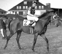 "Johnny ""Red"" Pollard aboard Seabiscuit"