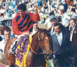Bompago and Attard escorted by trainer John Cardella