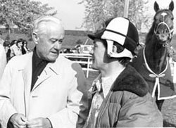 Secretariat's jockey, Ron Turcotte, and Laurin