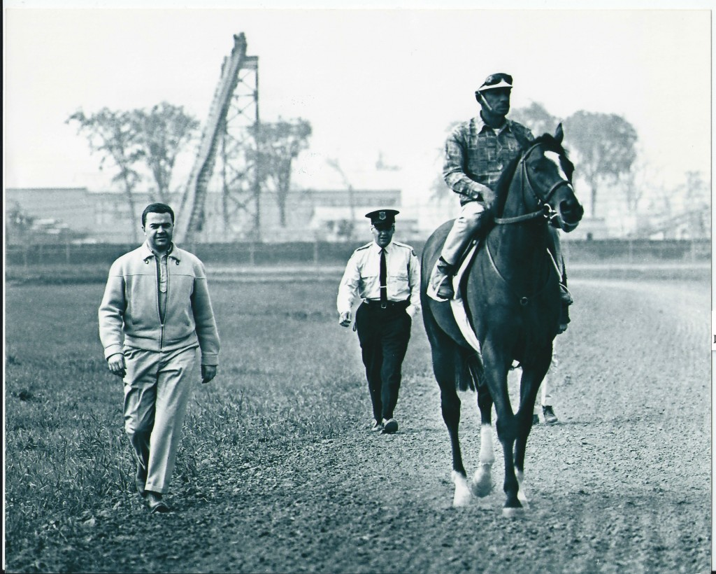bruce walker escorting secretariat - 1973 at Woodbine - Burns