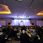 A capacity crowd of 300 enjoyed a 4-course gourmet meal during the evening.