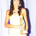 Standardbred Canada's beautiful Andrea Bertucci assisted with the award presentations.